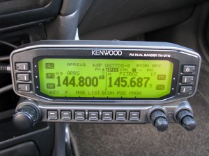 Kenwood TM-D710 green backlit