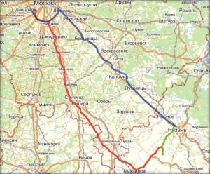 План поездки в Рязань