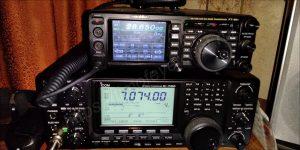 Icom IC-7410 & Yaesu FT-991